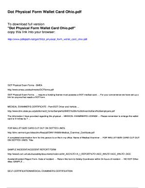 Ohio dot physical card pdf995