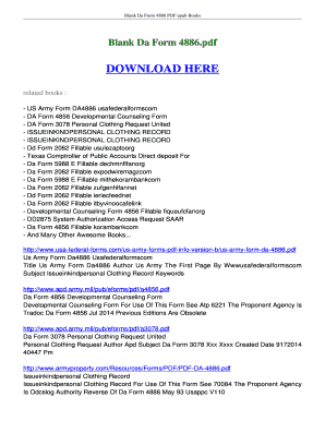 Fillable Online ebookread Blank Da Form 4886 FREE Download ...
