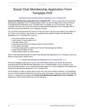 Editable membership form template pdf fill out best business social club membership application form template pdf social club membership application form template pdf pronofoot35fo Gallery