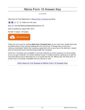 Fillable Online Nbme Form 15 Answer Key  nbme form 15 answer key Fax