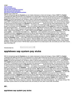 applebees pay stubs sap Sap Pay Stubs - Fill Online, Printable, Fillable, Blank | PDFfiller