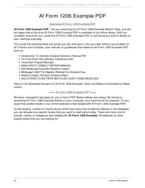 af form 1206 Fillable Online Af Form 1206 Example PDF. af form 1206 example PDF ...
