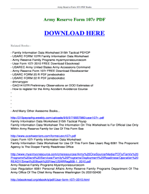 Fillable Online ebookscenter Army Reserve Form 107r FREE Download ...