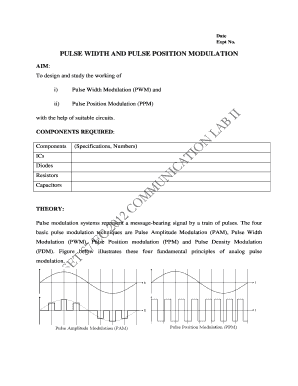 Fillable Online PULSE WIDTH AND PULSE POSITION MODULATION