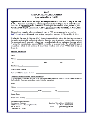 application form for 2015