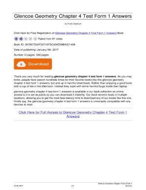 Glencoe Geometry Chapter 4 Test Form 1 - Fill Online, Printable ...