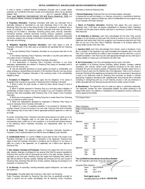 11 Printable Mutual Non Disclosure Agreement Forms And