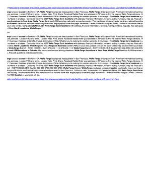 wells fargo routing number california - Edit Online, Fill