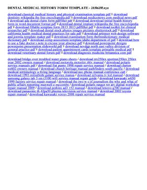fillable online 215b25f dental medical history form template dental
