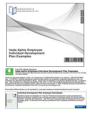 Usda Aphis Employee Individual Development Plan Examples