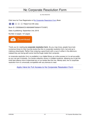 company resolution template - nc corporate resolution form nc corporate resolution form