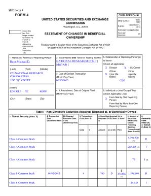 Sec Form 4 >> Fillable Online Sec Form 4 Rdgir Com Fax Email Print Pdffiller