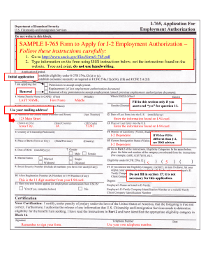 i 765 form sample Templates - Fillable & Printable Samples for PDF ...