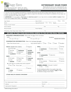 veterinary physical exam form fillable printable resume samples