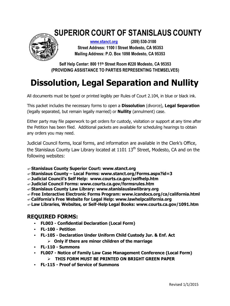 2015-2020 Form CA Dissolution Legal Separation and Nullity ...