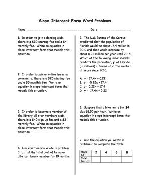 Graphing slope intercept form word problems worksheet graphing slope intercept form word problems worksheet ibookread PDF