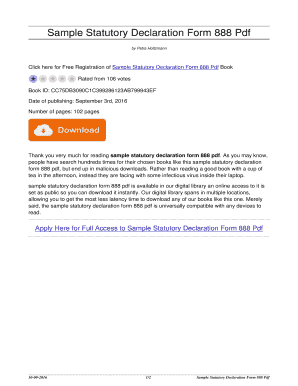 Statutory declaration 888 example fillable printable top forms sample statutory declaration form 888 pdf sample statutory declaration form 888 pdf thecheapjerseys Choice Image