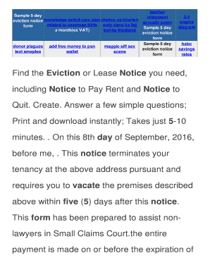 30 day eviction notice template forms fillable printable samples sample 5 day eviction notice form hnodstation4pets hn foodstation4pets thecheapjerseys Gallery