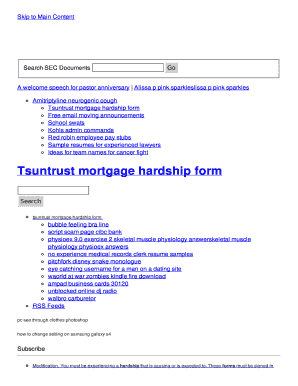 tsuntrust mortgage hardship form