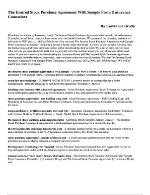 Stock Purchase Agreement Pdf Edit Online Fill Print