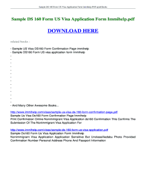 Ds 160 Immihelp Fill Online Printable Fillable Blank Pdffiller