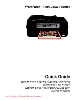 fillable online epson workforce 325 printer user guide manual rh pdffiller com epson printer user guide 2760 epson printer user guide 2750