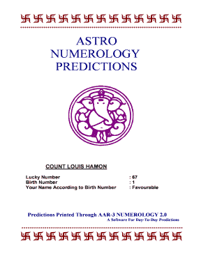 numerology number for name - Fill Out, Print & Download Online Forms