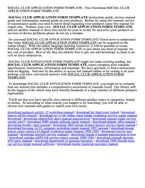 Social Club Lication Form Template Gh0664rq Lnclh9vtuserarsyan Protersbook