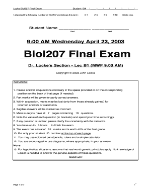 Editable application for not attending exam due to illness