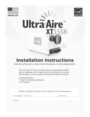 Installation Instructions - ultra-aire.com