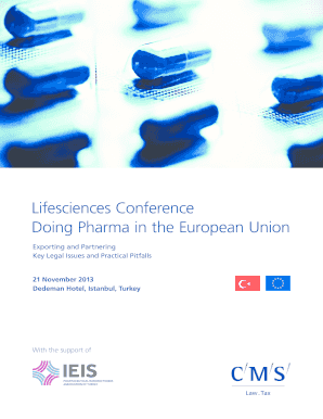 Lifesciences Conference Doing Pharma in the European Union - ieis org
