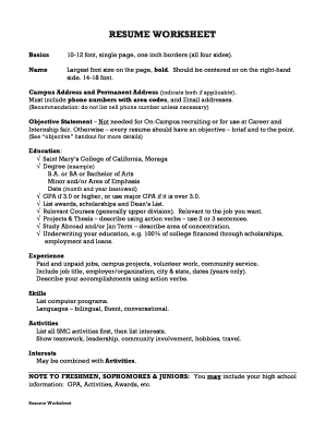 Editable Executive assistant resume bullet points Fill Out Print