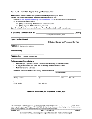 iowa courts efile forms - Forms & Document Templates to
