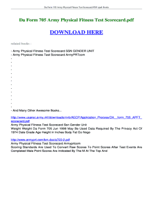 Fillable Online ebookread Da Form 705 Army Physical Fitness Test ...