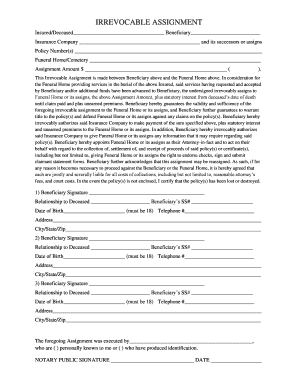 irrevocable beneficiary canada - Fill Out, Print ...