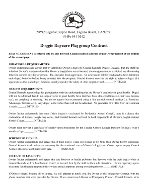 daycare contract pdf - Edit, Fill Out, Print & Download