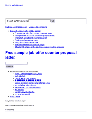 free sample job offer counter proposal letter Fill line Printable