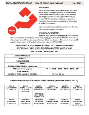 Fillable Online smvchurch promo-Alpha Registration Form vs4 ...