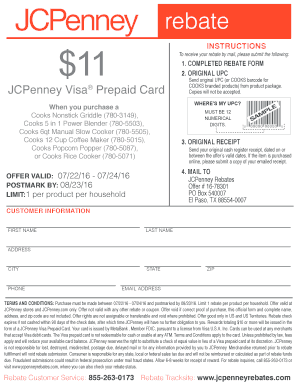 jcpenney cooks griddle rebate form