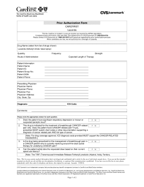 Fillable Online Prior Authorization Criteria Form Provider