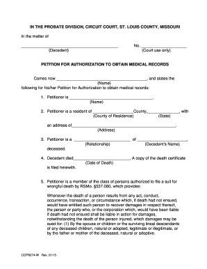 st louis county court public records - Edit & Fill Out