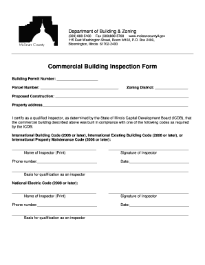 Commercial Building Inspection Form