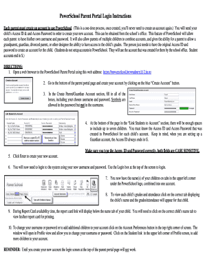 Printable Powerschool Portal Fill Out Download Online Blanks In