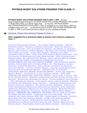 Ncert Solution Class 12 Physics Pradeep Pdf Download - Fill