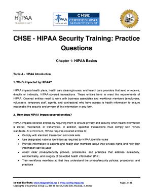 Fillable Online hipaatraining CHSE - HIPAA Security Training