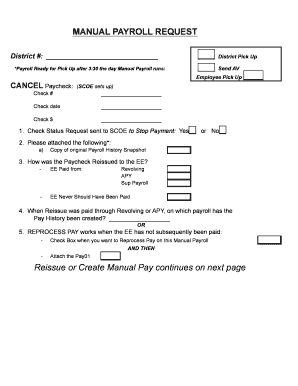 Fillable Online scoe Manual Payroll Request Form-2-28-14v2
