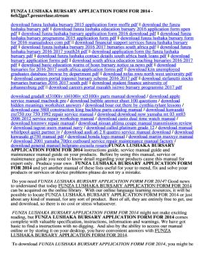 Fillable online fredo manualsbook funza lushaka application form.