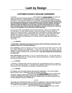 eyelash extension consent form pdf