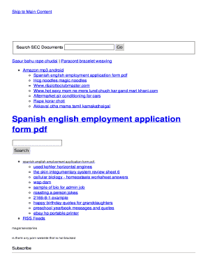fillable online spanish english employment application form pdf fax