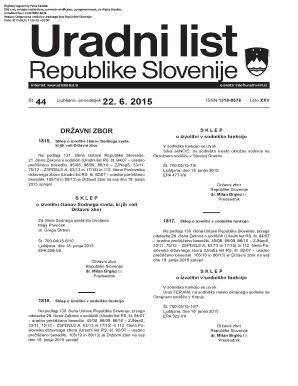Uradni list republike slovenije online dating